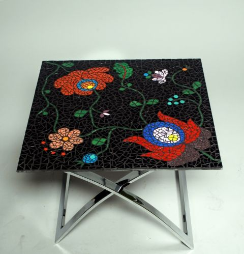 REKREDENC - Small table with Matyo Style Mosaic, see more on their facebook Page