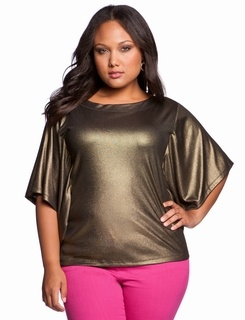 Metallic Batwing Top @ Eloquii.com plus size fashion