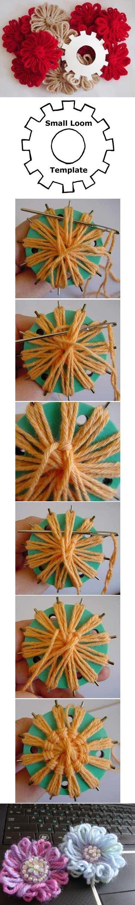 簡単毛糸の花モチーフ | わさび☆アイスクリーム