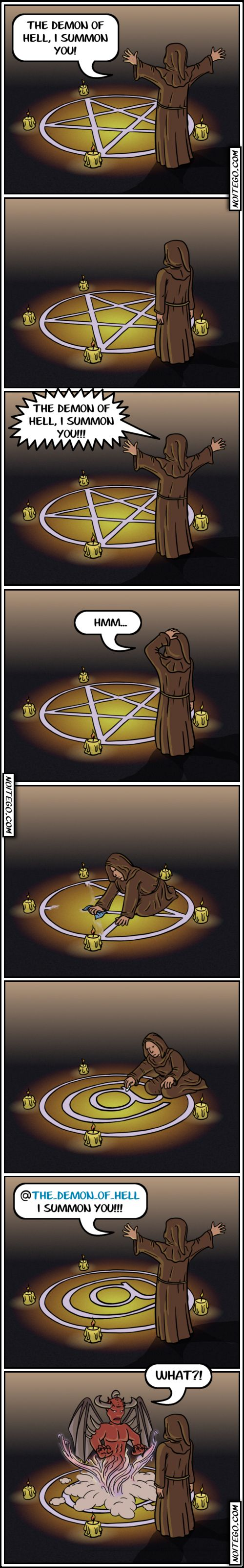 What if someone tried to summon the devil only to find that they themselves show up in the pentagram?