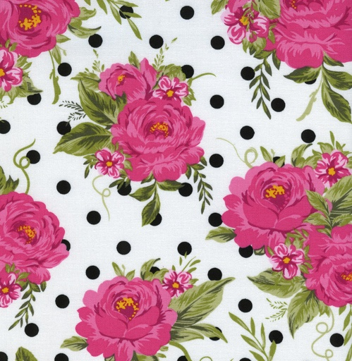 Sweet Jessie S Fabric Collection Tt Hot Pink Cabbage Roses
