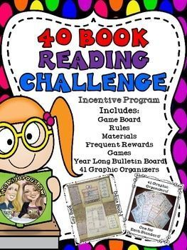Want your students to read 40 books independently this year? Here is an amazing incentive program that will be sure to grab your students attention and get them excited about reading. We have turned the 40 book challenge into a game with frequent rewards and best of all, they dont have to cost you a thing!Whats Included?-Game Board (Lap book Style) -Game board Rules-Step by Step Directions-Keys-Game Tickets-Teachers Choice Reward Tickets-Slow but Steady Reward Ticket Program...