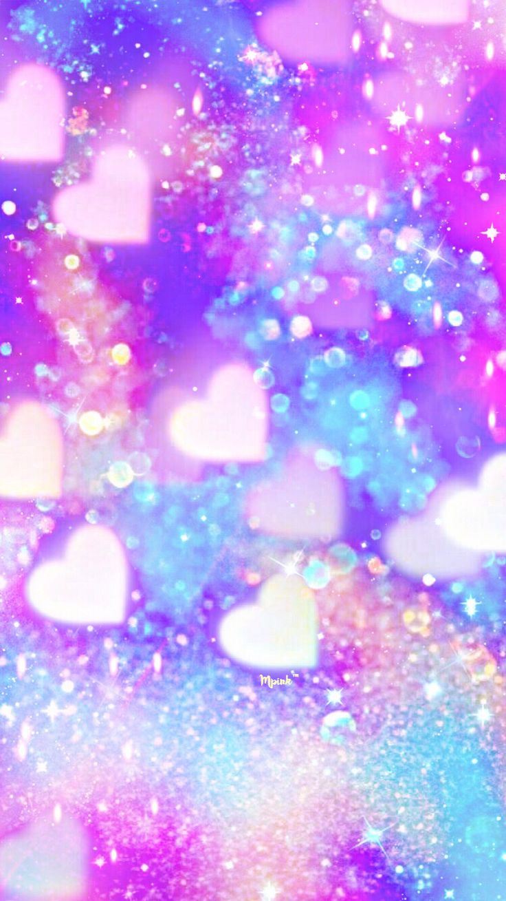 Shimmer Hearts Wallpaper/Lockscreen Girly, Cute