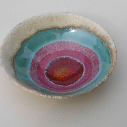 Sunset Circles.. A little ceramic bowl