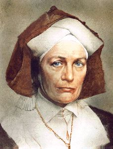 St Hildegarde of Bingen. Middle ages. Writer, composer, philosopher and a Christian visionary.