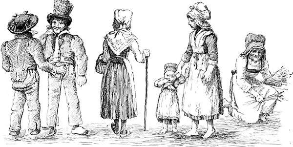 Costumes du nivernais fin xix me si cle paysanne - Dessin costume ...
