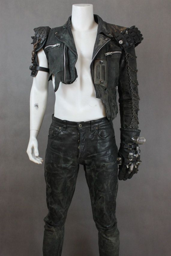 Mad Max Fury Road - Leather Jacket - Mad Max Costume - Mad Max Jacket - Alternative Clothing - Wasteland Warrior - Mad Max Clothing  Designer of the project is Viola Sychowska, founder of Wasted Couture collective. Metal work is made by Szpaku, member of Wasted Couture collective.  This is more then ordinary Wasteland warrior jacket, this is real badass jacket. Inspiration taken from... MadMax! Yes! And you have a chance to become something more then Rockatansky. You will be the toughest…