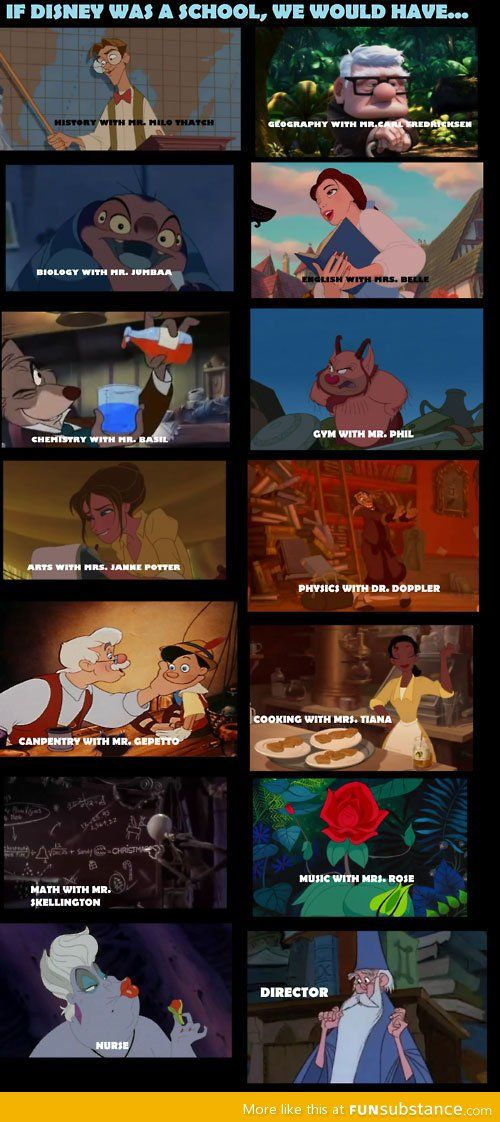 If Disney were a school... Cooking or music would be my favorite