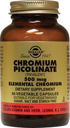 Chromium Picolinate - helps with insulin resistance