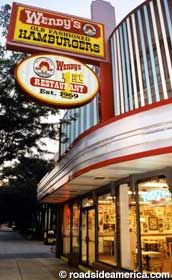Dave Thomas opened the first Wendy's  in November 1969 in Columbus, Ohio. He modeled the fast food restaurant after Kewpee Hamburgers in his hometown  Kalamazoo, Michigan.