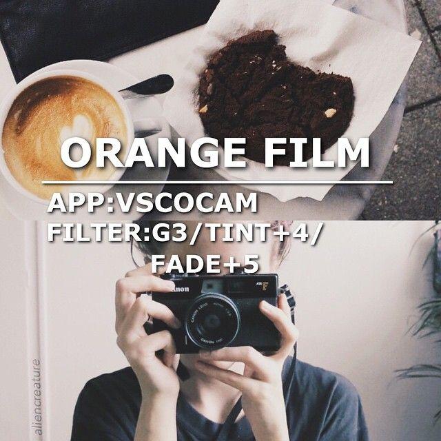 ORANGE FILM App: VSCOCAM Filter: G3/Tint+4/Fade+5 This filter is good for selfie too #vsco#vscocam#vscofilter