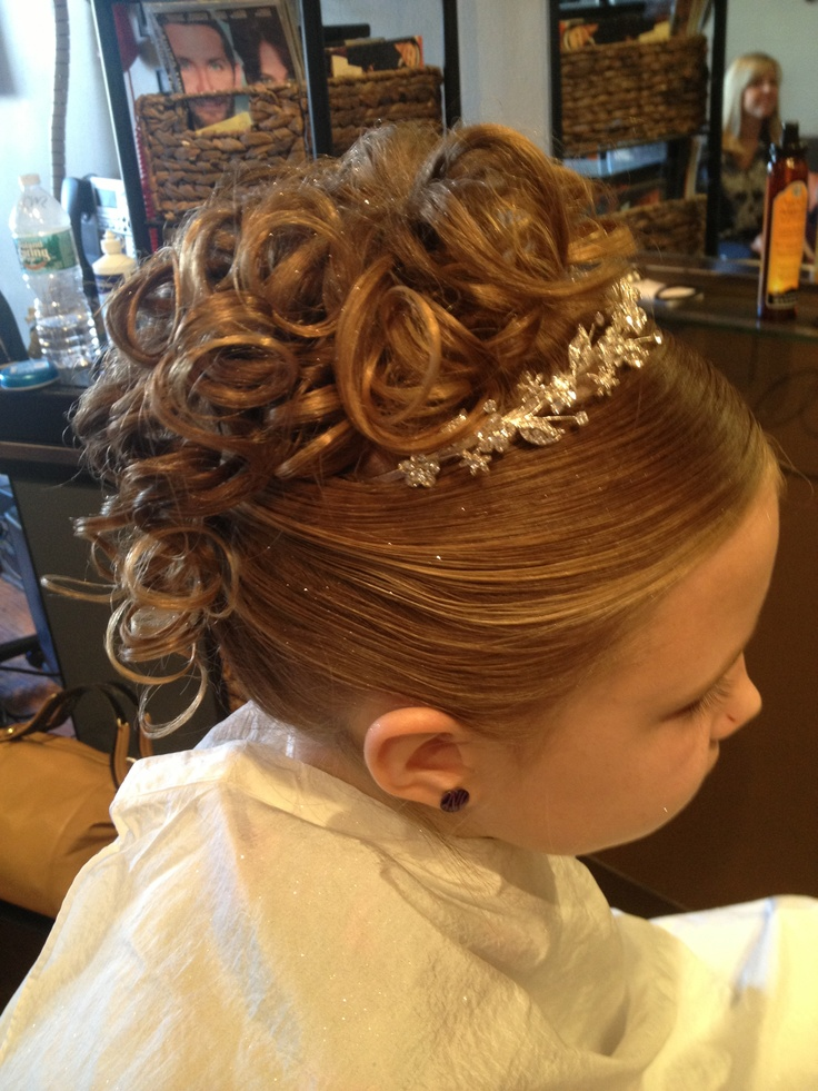 Updo Hairstyles For First Holy Communion Hair