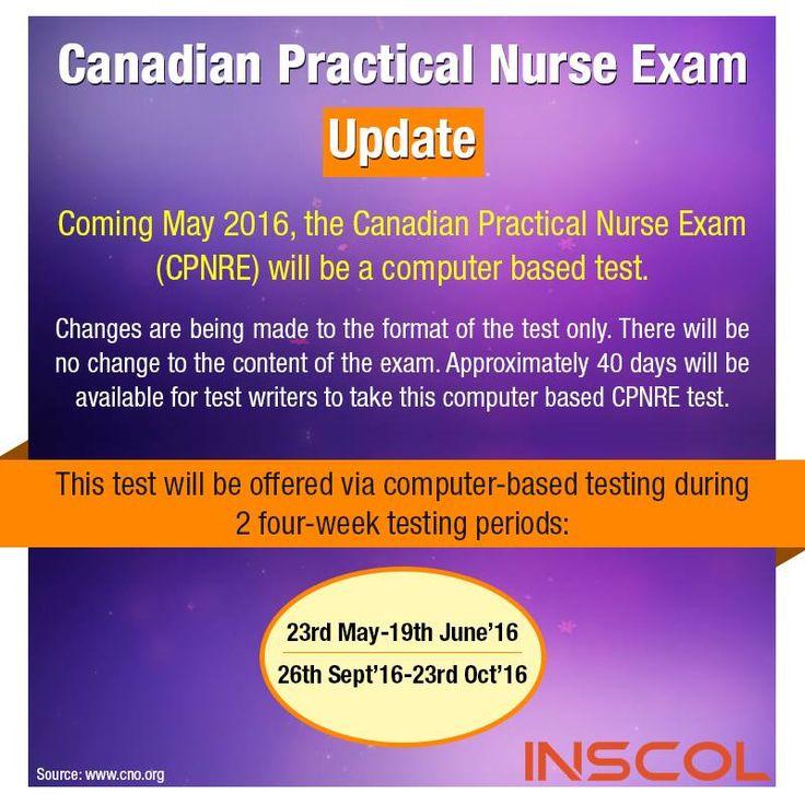 Nurses here is a canadian practical nurse exam update