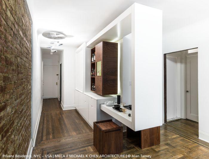 A splendid parquet floor, a patina brick wall, clever closets and the inimitable #Mercury Mini ceiling ►http://bit.ly/MercuryMini #design Ross Lovegrove