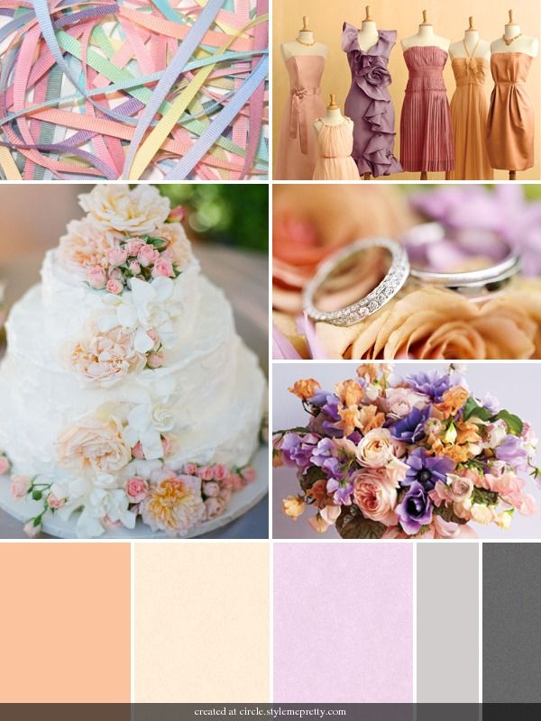 Peach & Lavender Spring Wedding :  wedding bouquet bridesmaids cake dress flowers Ibb 1302180193 The Latest