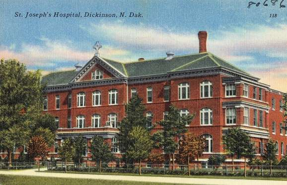 North Dakota: St. Joseph's Hospital, Dickinson As someone who knows a lot of nurses, it's never surprising to hear that the most haunted local spot is a hospital. With that in mind, we're wondering if the workers at St. Joseph's are phased by the morgue's elevator operating on its own, the disembodied voices and moaning heard in the cafeteria, the call buttons going off in unoccupied rooms, and the sounds of running footsteps in the basement.