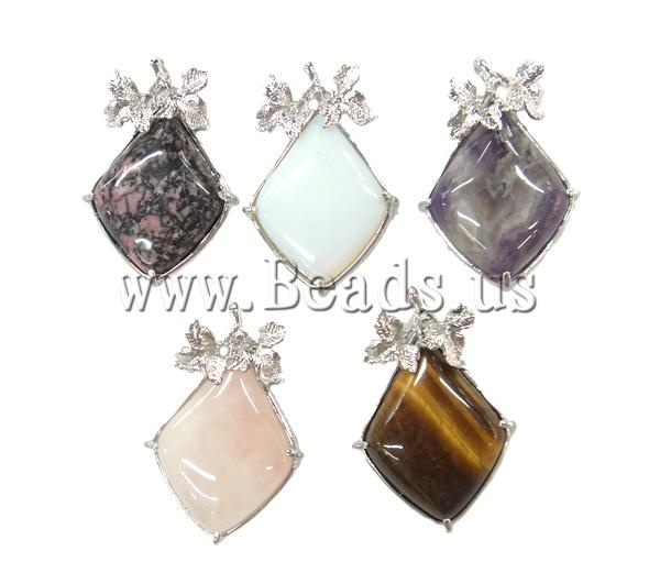 Mixed Gemstone Pendant, shining for jewelry  making. Please link to my site for more info     http://www.beads.us: Mixed Gemstone, Gemstone Pendants