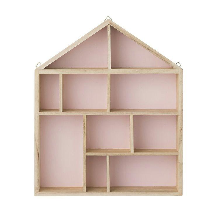 BLOOMINGVILLE HOUSE SHELF DISPLAY BOX BLUSH PINK