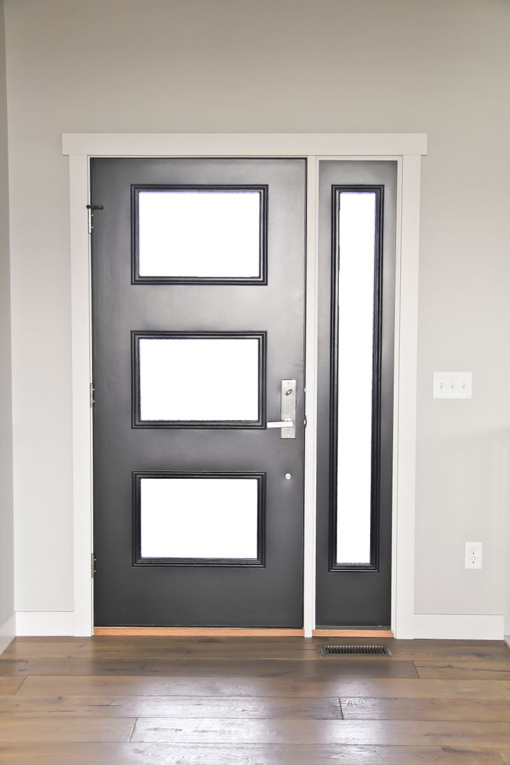 Contemporary entryway door with side light builder 39 s for Modern front door lights