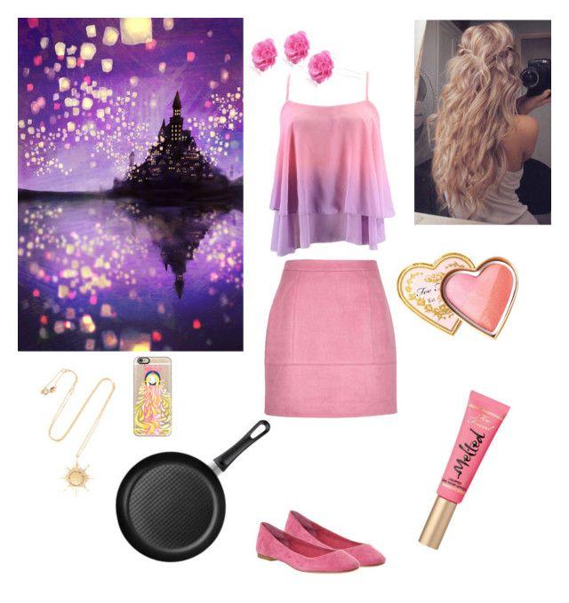 """Rapunzel-Halloween"" by eleftheria-kallou on Polyvore featuring Casetify, Splendid, Aamaya by Priyanka, Chicnova Fashion, Scanpan and Too Faced Cosmetics"