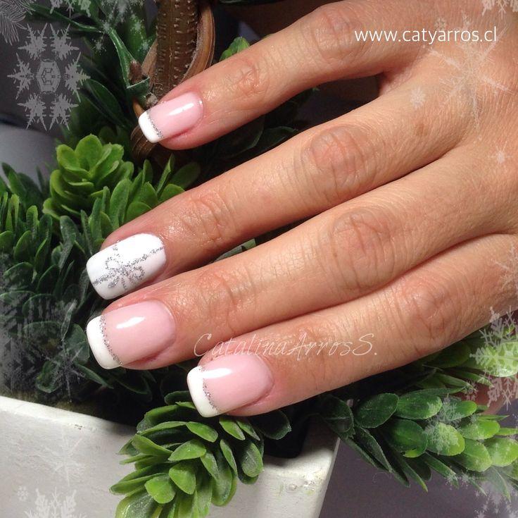 Uñas Gel con Diseño Navideño a mano alzada / Esmaltado Permanente (Gel Polish)