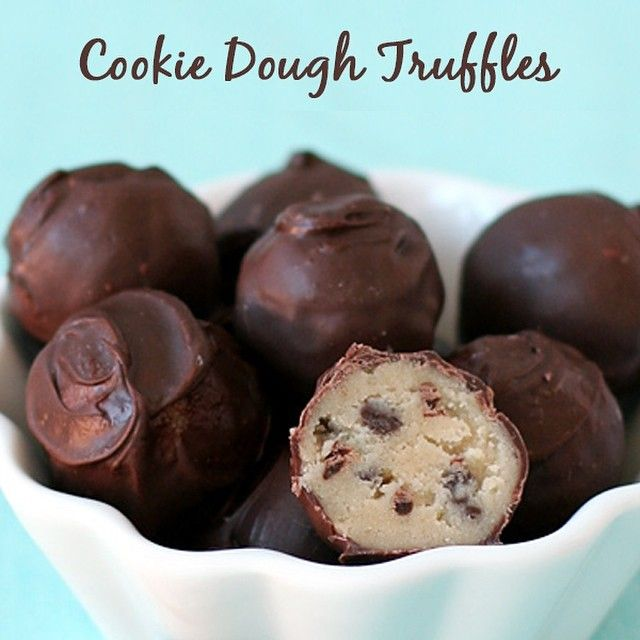 Check out this recipe for Cookie Dough Truffles! A sweet treat without the hassle of baking!