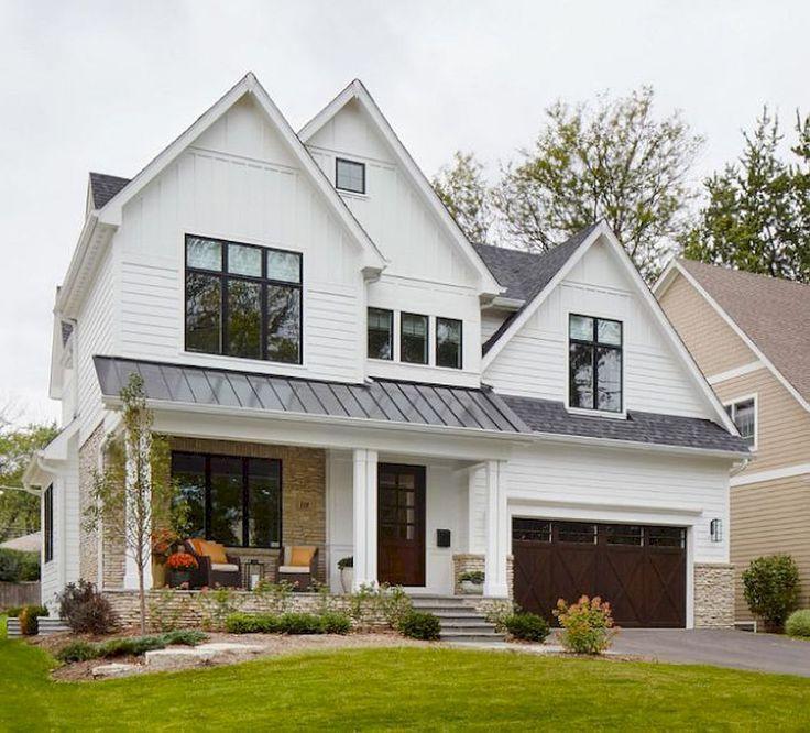 60 modern farmhouse exterior design ideas ranch homes - Ranch Home Exterior