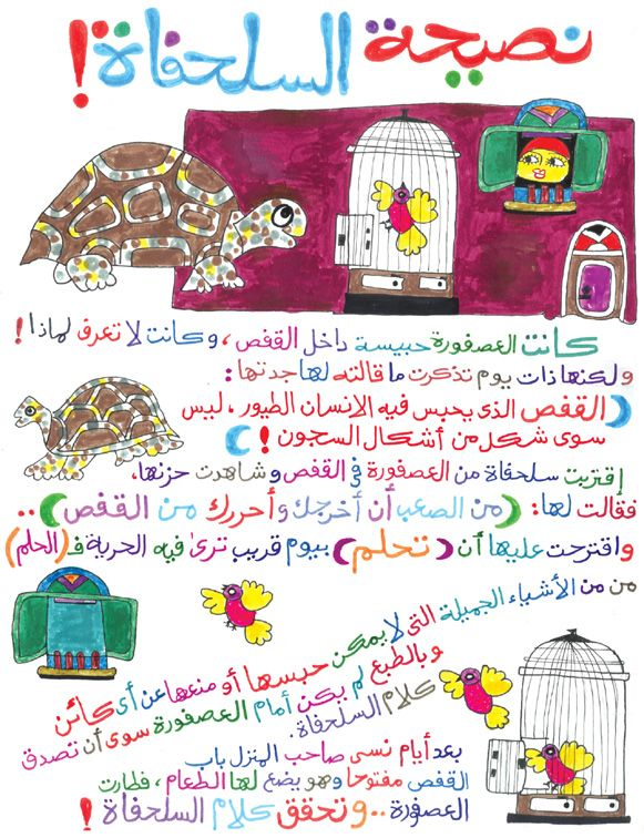 An Arabic story for kids I found on the internet. It illustrates the power of dreams. This encourages kids to dream and believe because you never know, sometimes dreams do come true.