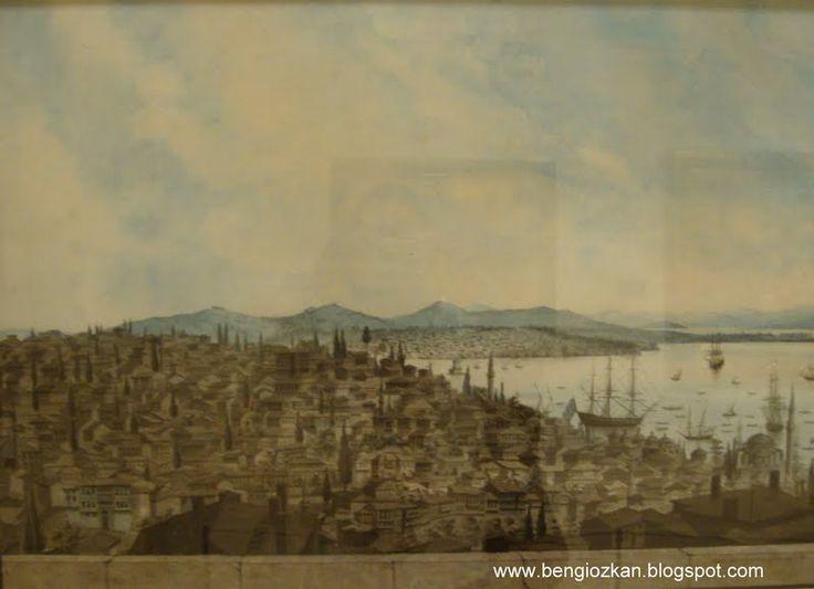 Galata Kulesi'nden İstanbul Görünümü - Antoine Ignace Melling