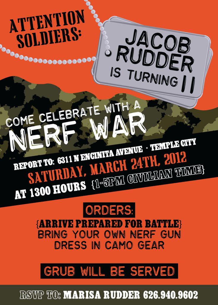 best 25+ nerf war ideas on pinterest | nerf party, nerf birthday, Party invitations