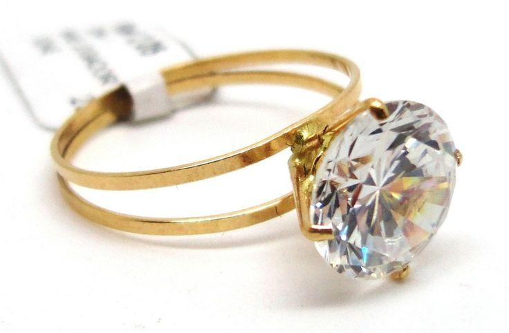 anel de ouro solitario com brilhante 1