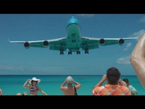 St Maarten 2013 Crazy Takeoff Landing 747 A340 etc. (Full HD 1080p !)