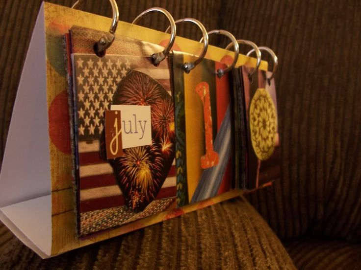 Make a calendar out of old magazines...What a wonderful idea!