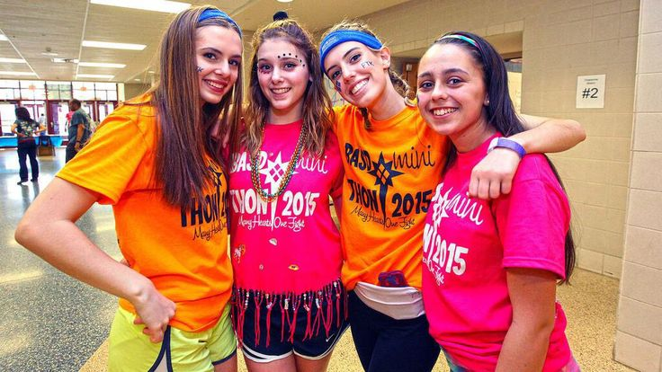 Love all of the bright colors and Mini-THON accessories that these students are rocking at Bethlehem Area School District #FTK