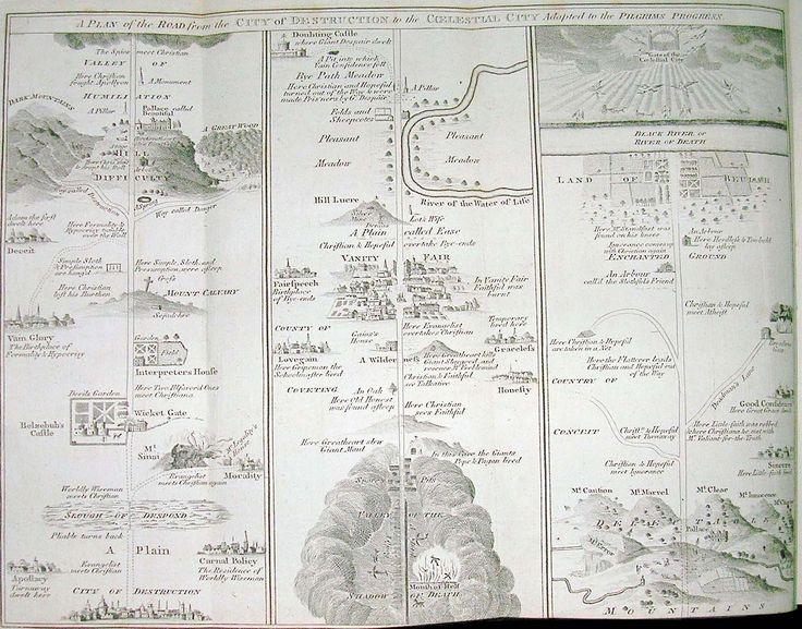 Pilgrim's Progress map small - The Pilgrim's Progress - Wikipedia, the free encyclopedia