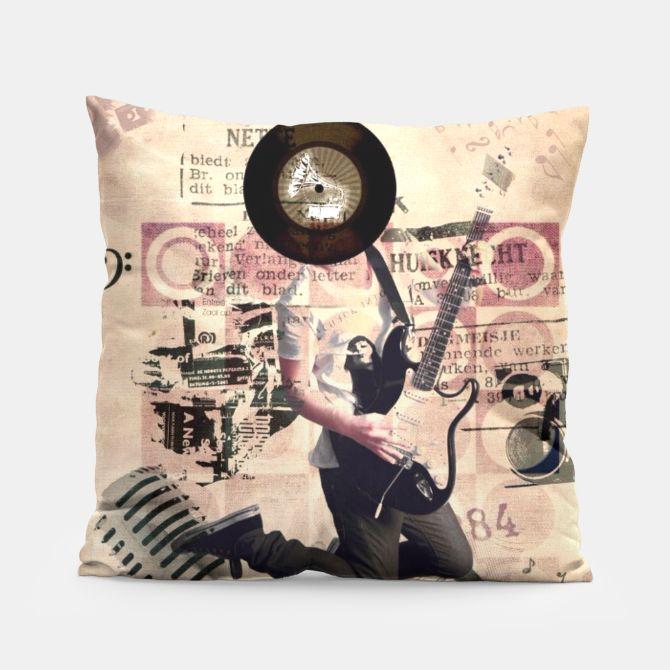#retro #guitar #music #decor #pillow