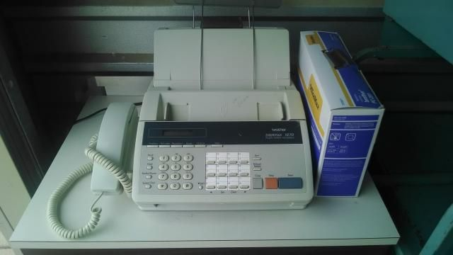 BROTHER INTELLIFAX 1270 FAX MACHINE WITH BRAND NEW IN THE BOX PRINTING CARTRIDGE