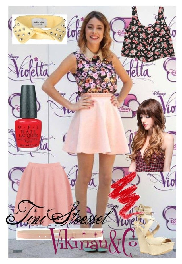 """""""Tini Stoessel"""" by vikmanandco ❤ liked on Polyvore featuring Forever 21, Moschino Cheap & Chic, Au Jour Le Jour, Steve Madden, Diane Von Furstenberg, OPI, swag and Tini_Stoessel"""