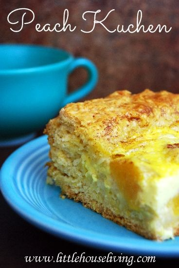 peach-kuchen-recipe..uses yeast for raising...popular with the Germans!