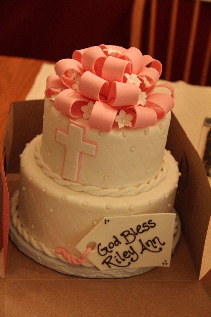 Pictures Of Baby Dedication Cakes