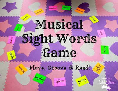 Musical Sight Words Game gets kids moving, dancing, grooving and mastering sight words - so easy to set up and you can use it to practice so many skills, concepts and learning objectives