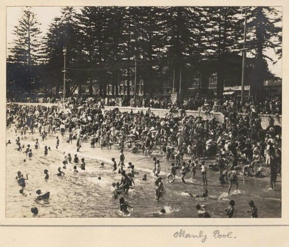 Manly Pool,Northern Beaches of Sydney in 1935. Photo from Royal Australian Historical Society.A♥W