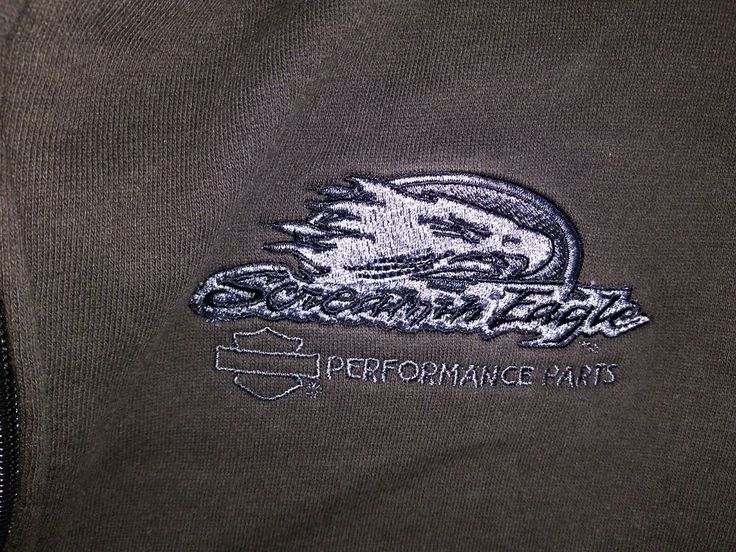 Harley Davidson Men's Full Zip Hoodie XL Screaming Eagle EUC Long Sleeve #HarleyDavidson #Hoodie