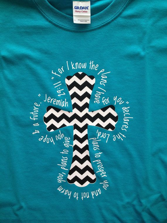 Chevron Cross TShirts with Jeremiah 2911 by Matterbaby on Etsy