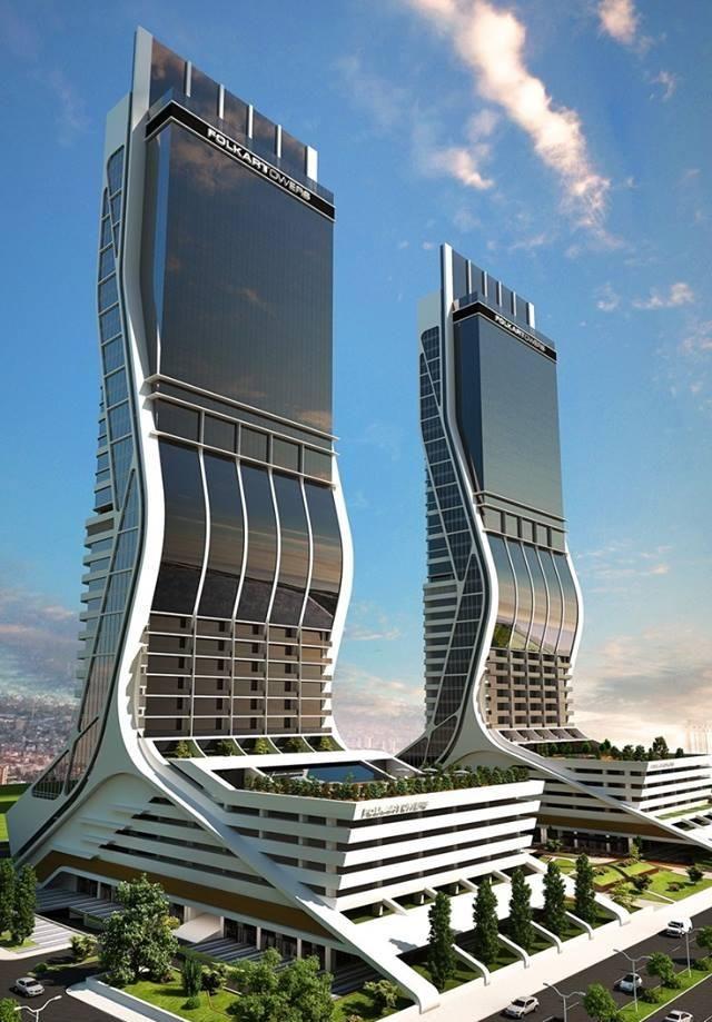 Folkart Towers, Turkey.  Stunning design highlighted in a beautiful photograph!  #BeautifulNow #Architecture #Turkey