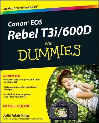 A full-color guide to Canon's exciting new dSLR camera Whether it's your first dSLR, your first Canon camera, or simply a new tool for your photography, your Canon Rebel T3i/600D has countless capabil