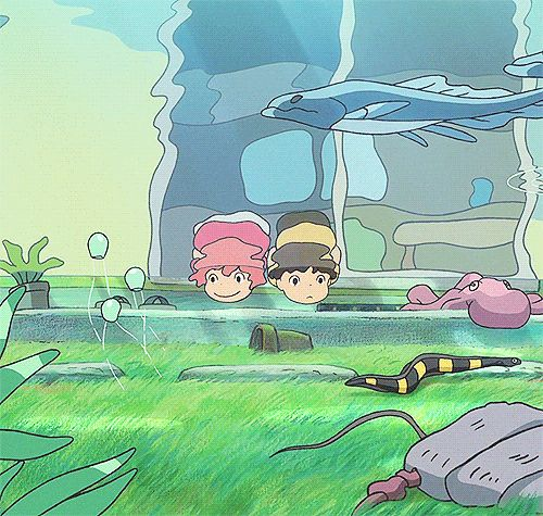 Ponyo --- One of my favorites scenes from the movie (I have a weird obsession with underwater scenery)