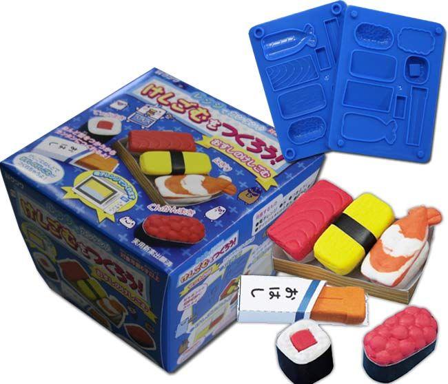 Let's Make Eraser with Microwave ~ Sushi http://moe.jlist.com/click/4518?url=http://www.jlist.com/product/STT185