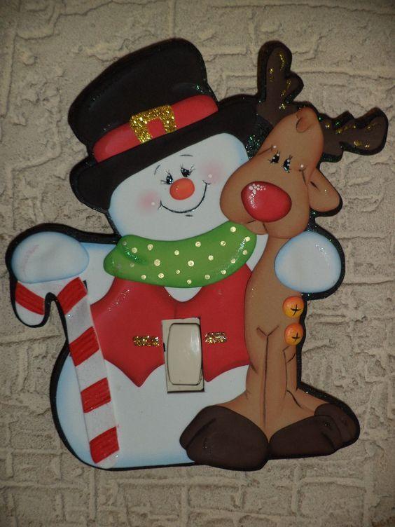 Apagadores navideños con moldes, para que decores cada rincón de tu hogar.
