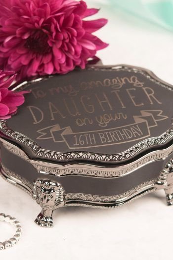 Personalised Black Vintage Jewellery Box Amazing 16th Birthday Any Recipient 220x330 Sweet 16th birthday Gift Ideas